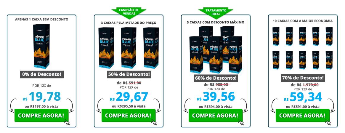 Preço do Power Blue Expand
